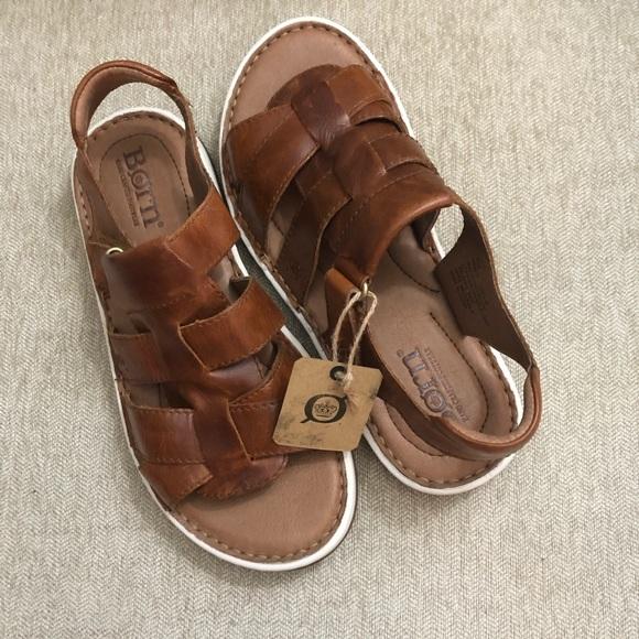 New Born Kristoffer Leather Sandal Sz
